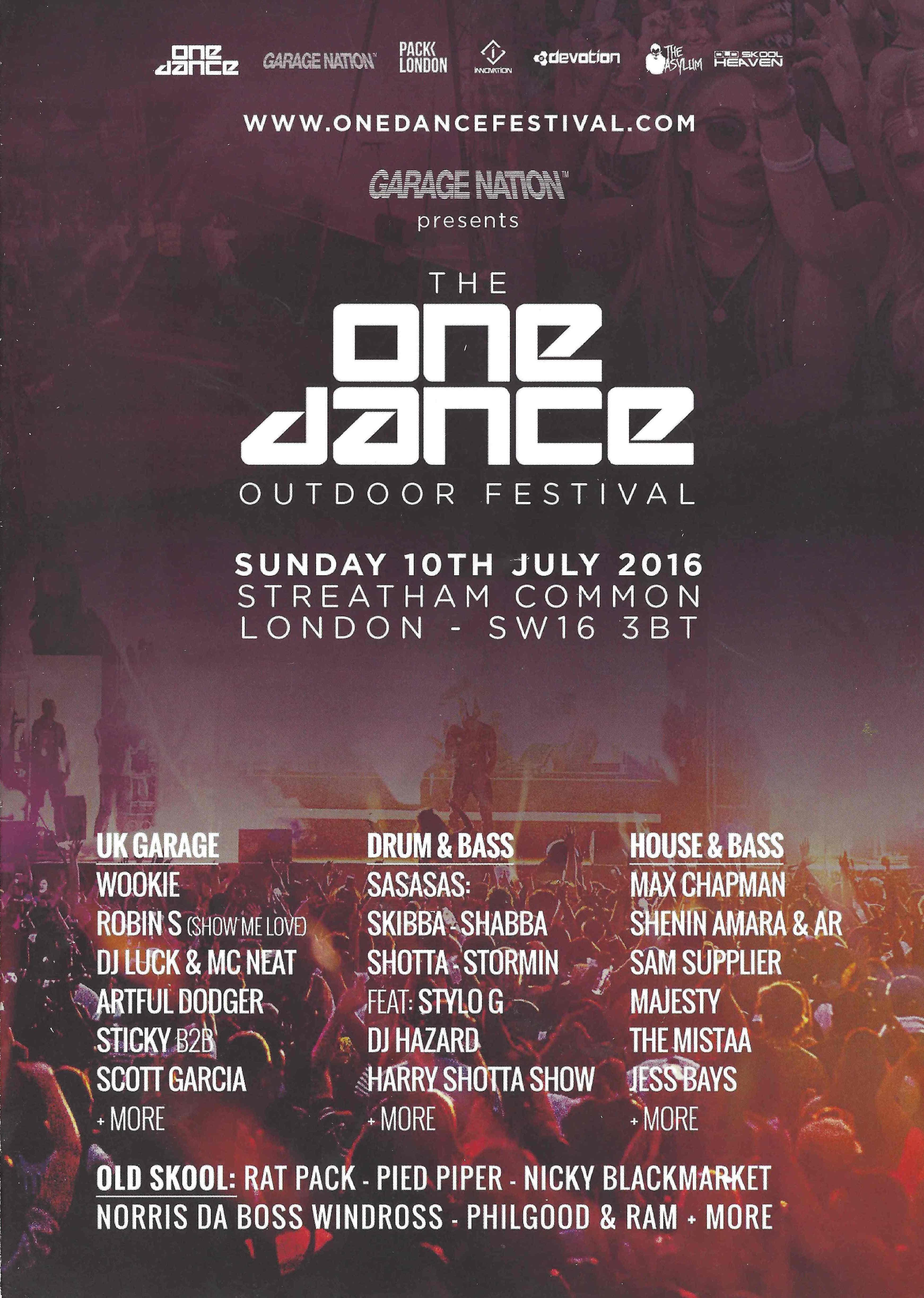 One Dance Festival Streatham Common London 10th July 2016 Flying